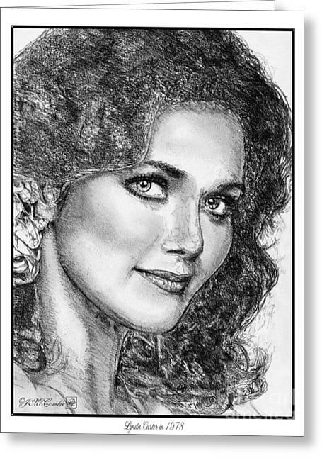 Fame Drawings Greeting Cards - Lynda Carter in 1978 Greeting Card by J McCombie