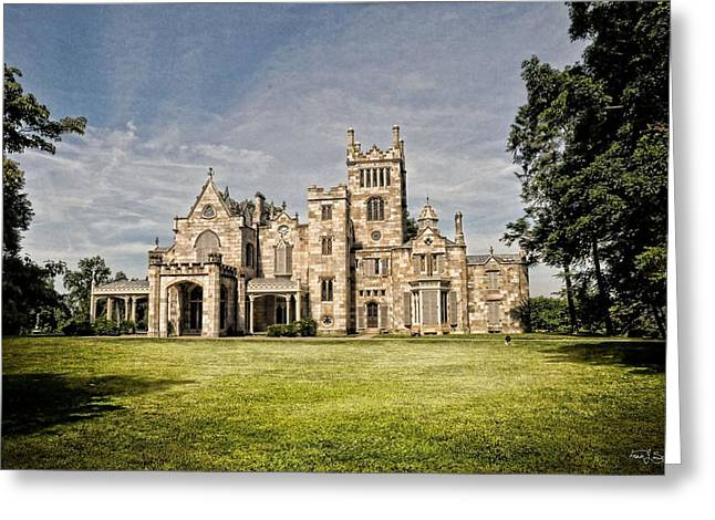 Stone House Greeting Cards - Lyndhurst in June Greeting Card by Fran J Scott