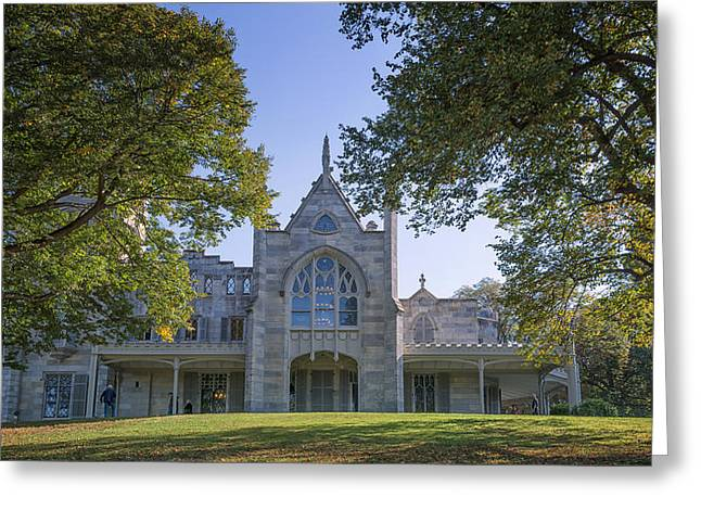Chateau Greeting Cards - Lyndhurst Mansion Greeting Card by Joan Carroll