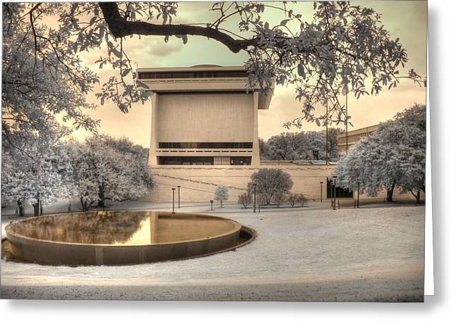University Of Texas At Austin Greeting Cards - Lyndon B Johnson Presidential Library Greeting Card by Jane Linders