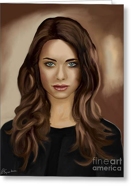 Desperate Housewives Greeting Cards - Lyndsy Fonseca - Nikita Greeting Card by Richard Eijkenbroek