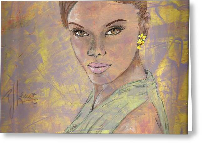 Spring Fashion Greeting Cards - Lynette Greeting Card by P J Lewis