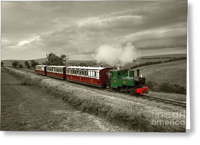 Narrow Gauge Steam Train Greeting Cards - Lynton Barnstaple Railway  Greeting Card by Rob Hawkins