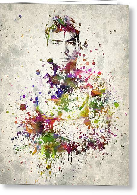 Famous Athletes Greeting Cards - Lyoto Machida Greeting Card by Aged Pixel
