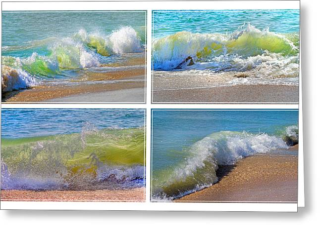Lyrical Literacy Of Waves Greeting Card by Betsy C Knapp