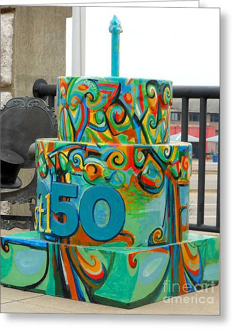 Happy Sculptures Greeting Cards - Lincoln Douglas Stl250 Cake Greeting Card by Genevieve Esson