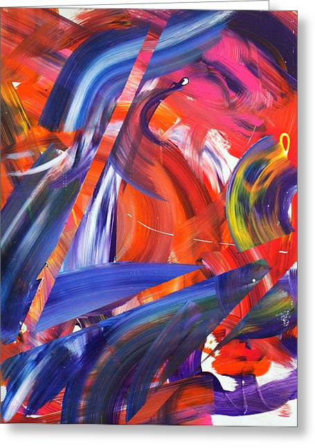 Abstract Expression Greeting Cards - Lyrical Wax Greeting Card by Richard Day