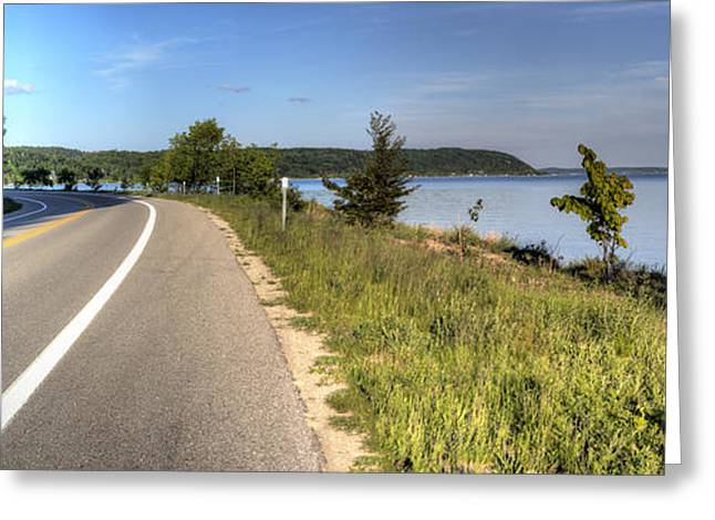 M-22 And Crystal Lake Greeting Card by Twenty Two North Photography
