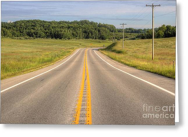 Byway Greeting Cards - M 22 In Northport Greeting Card by Twenty Two North Photography