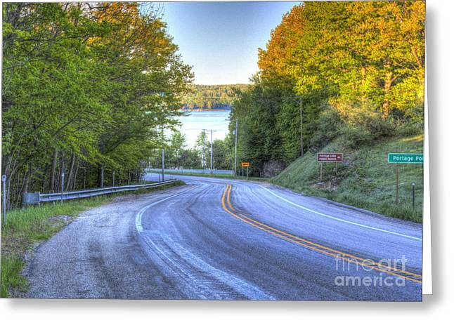 M-22 Through Onekama Greeting Card by Twenty Two North Photography