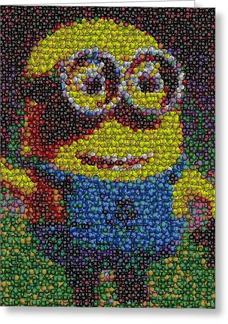 Despicable Me Greeting Cards - M and M Minion   Greeting Card by Paul Van Scott