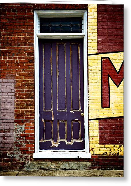 Entryway Greeting Cards - M Greeting Card by Brandon Addis