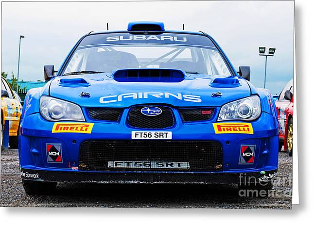 Ferme Greeting Cards - M. Cairns Subaru Impreza Greeting Card by Luis Alvarenga