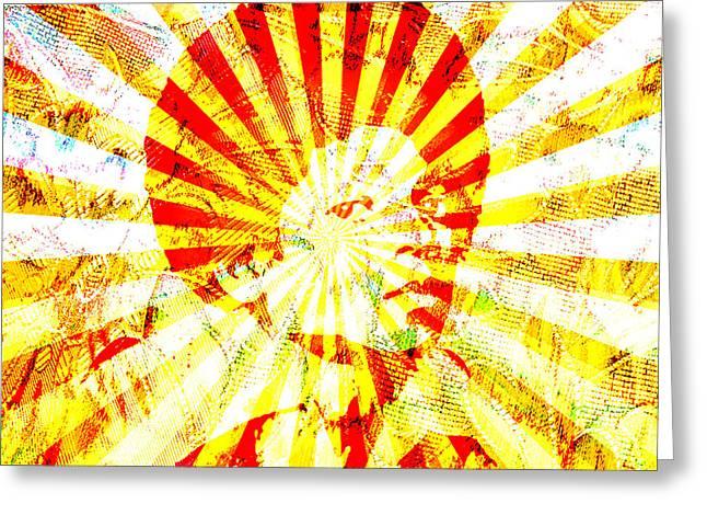 Jackson 5 Digital Art Greeting Cards - M Jackson Greeting Card by Bennu Corbishley