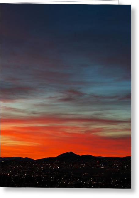 Sunset Greeting Cards Greeting Cards - M on Fire  Greeting Card by Kevin Bone