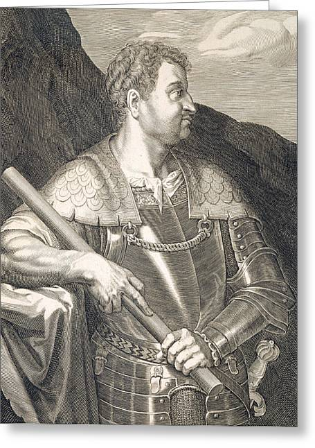 Nero Greeting Cards - M Silvius Otho Emperor of Rome Greeting Card by Titian