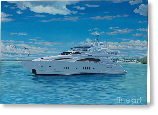 Danielle Perry Greeting Cards - M/Y Giga-Btye Greeting Card by Danielle  Perry