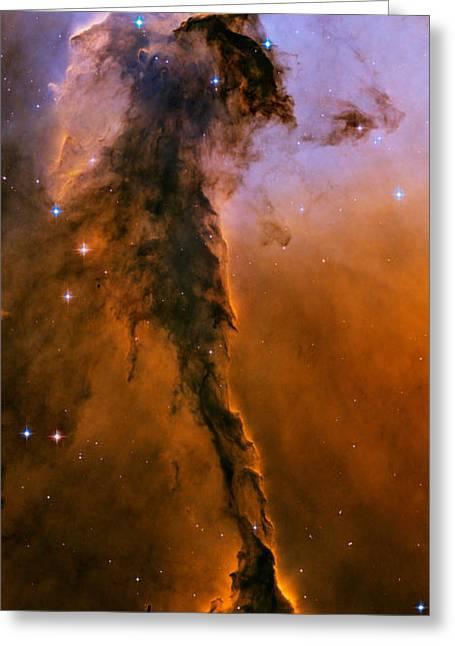 Eagle Nebula Greeting Cards - M16 Ngc 6611 Eagle Nebula Greeting Card by NASA  ESA  Space Telescope Science Institute