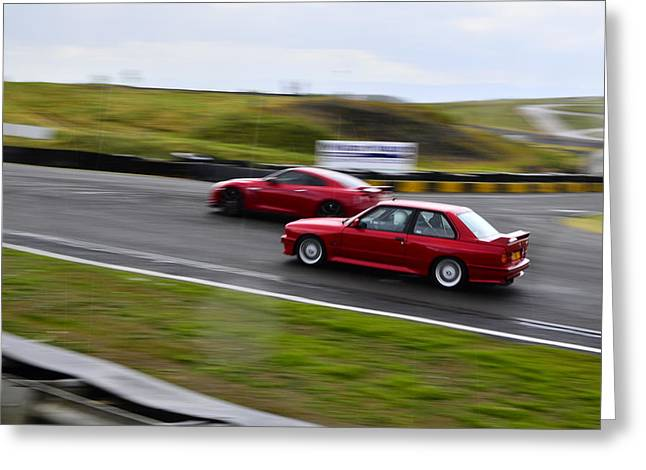 Prodrive Greeting Cards - M3 And Skyline Face Off Greeting Card by Phil Kellett