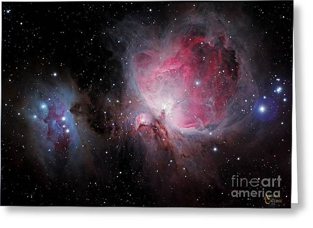 Orion Mixed Media Greeting Cards - M42 Orion Nebula  Greeting Card by Nasa