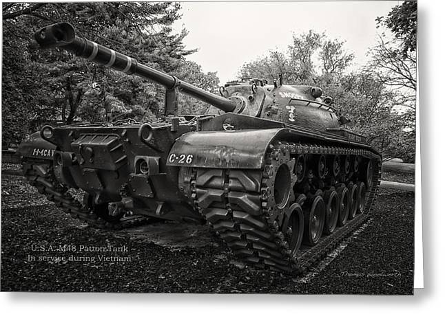 Recently Sold -  - Division Greeting Cards - M48 Patton Tank Front View Greeting Card by Thomas Woolworth
