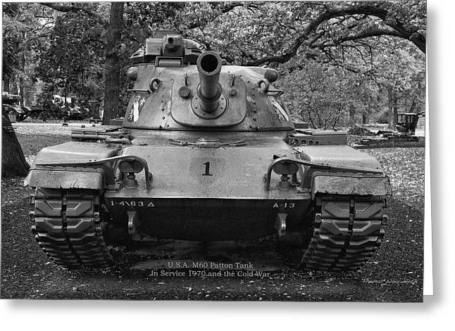 M60 Patton Tank Greeting Cards - M60 Patton Tank Greeting Card by Thomas Woolworth