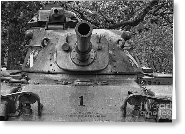 M60 Patton Tank Greeting Cards - M60 Patton Tank Turret Greeting Card by Thomas Woolworth
