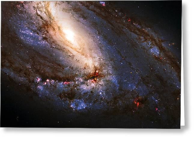 Constellations Greeting Cards - M66 Leo Triplet Greeting Card by Ricky Barnard