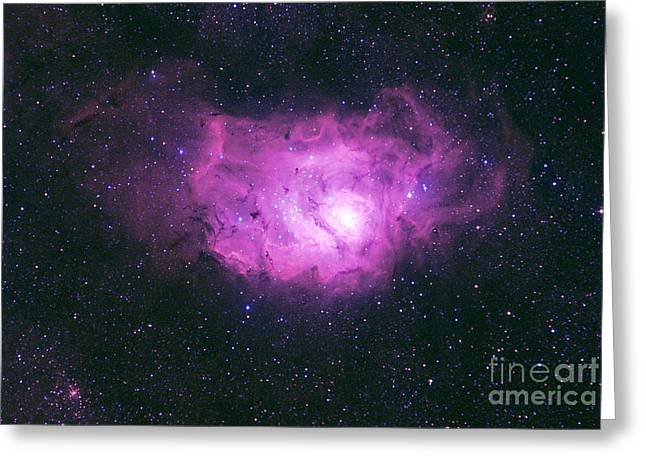 Constellations Greeting Cards - M8 Lagoon Nebulae Greeting Card by John Chumack