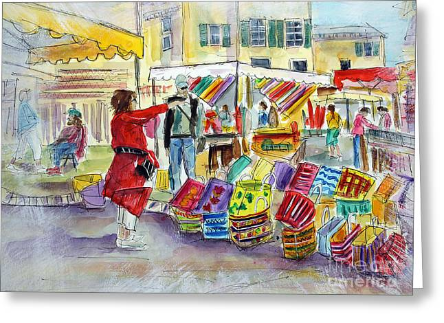 Tim Ross Greeting Cards - Ma Favori Marche Greeting Card by Tim Ross
