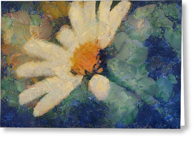 Daisy Digital Art Greeting Cards - Ma Marguerite - d101-slv4clf Greeting Card by Variance Collections
