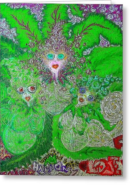 Jesus Pastels Greeting Cards - Ma Mothers  ReBirth 2 Greeting Card by Lyn Blore Dufty