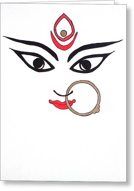 Maa Kali Greeting Card by Kruti Shah