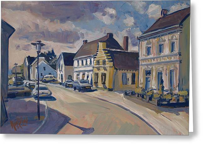 Limburg Paintings Greeting Cards - Maasstraat in Obbicht Greeting Card by Nop Briex