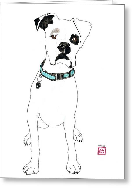 Ilustration Greeting Cards - Mabel Greeting Card by Richard Williamson
