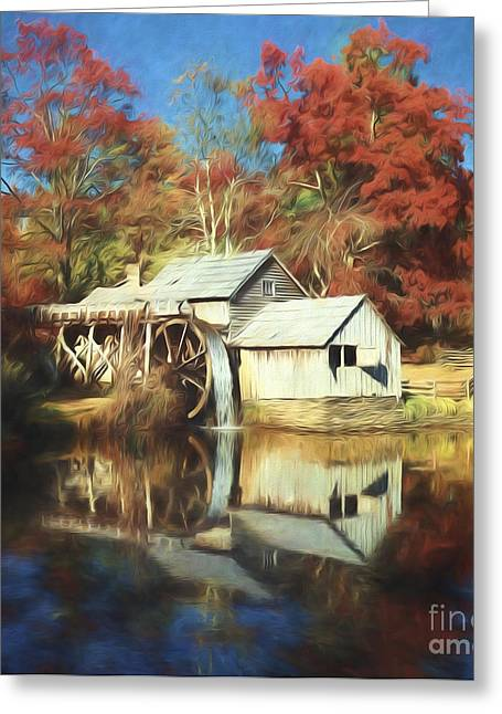 Grist Mill Greeting Cards - Mabrey Mill Greeting Card by Steve Bailey