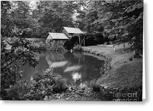 Mabry Mill 2 Greeting Card by Mel Steinhauer