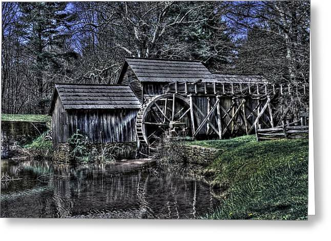 Grist Mill Greeting Cards - Mabry Mill Greeting Card by Brian Cole