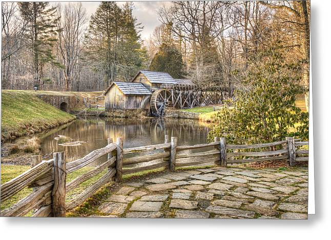 Mabry Mill Greeting Card by Gregory Ballos