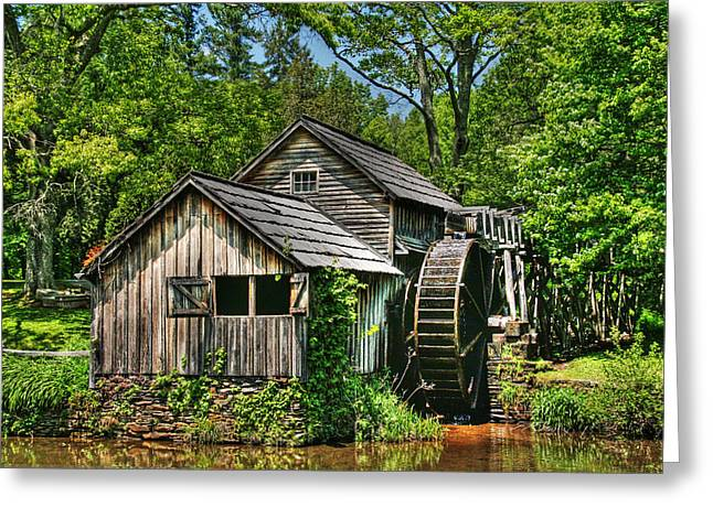 Mabry Mill Greeting Card by Heather Allen