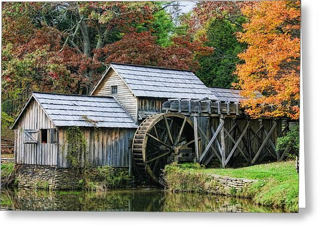 Mabry Mill II Greeting Card by Joan Bertucci