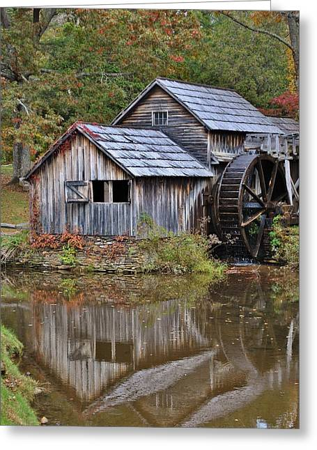 Grist Mill Greeting Cards - Mabry Mill Greeting Card by Kelly Nowak