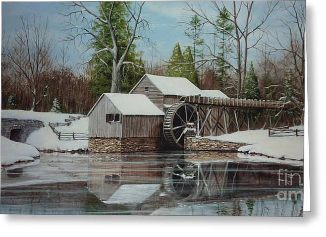 Old Mill Scenes Paintings Greeting Cards - Mabry Mill Greeting Card by Phil Christman