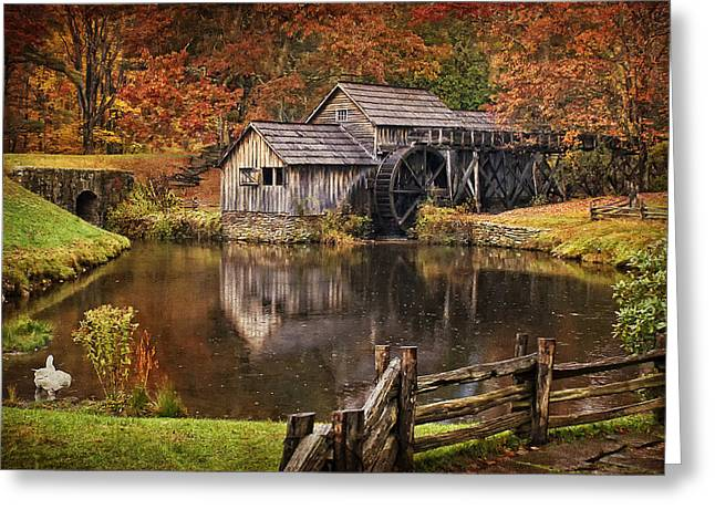 Fall Scenes Greeting Cards - Mabry Mill Greeting Card by Priscilla Burgers