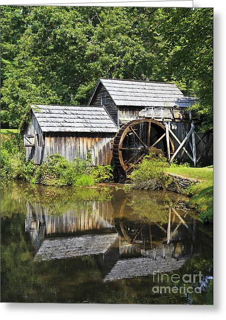 Grist Mill Greeting Cards - Mabry Mill Reflections Greeting Card by Jill Lang