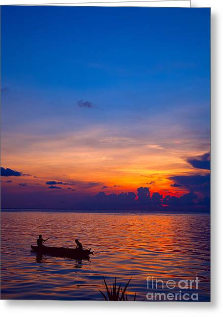 Exoticism Greeting Cards - Mabul island sunset Borneo Malaysia Greeting Card by Fototrav Print