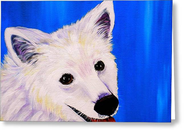 Panting Dog Greeting Cards - Mac Greeting Card by Debi Starr