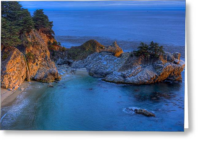Coast Highway One Greeting Cards - McWay Cove Sunset 2013 Greeting Card by Ralph Nordstrom