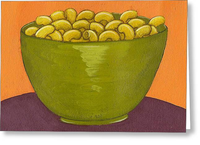 Noodles Greeting Cards - Macaroni and Cheese Greeting Card by Christy Beckwith