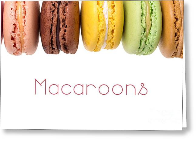 Assorted Greeting Cards - Macaroons isolated Greeting Card by Jane Rix